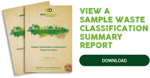 waste classification summary report